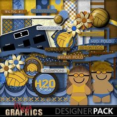 Water Polo digital scrapbooking kit  Available at MagsGraphics.com & MyMemories.