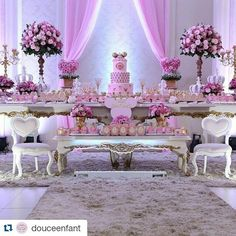 """98 """"Μου αρέσει!"""", 3 σχόλια - Inspirações para festas  (@carolfesteira) στο Instagram: """"A Minnie cheia de luxo! #Repost @douceenfant with @repostapp ・・・ Festa de hoje: Minnie Princess…"""""""
