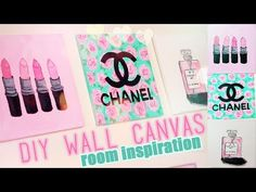 DIY Room inspiration Decor | Chanel, MAC, Designer Paintings | Juicydaily 2014 - YouTube