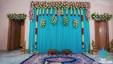 52 Ideas For Flowers Paper Centerpiece wedding background You are in the right place about wedding decorations chairs Here we offer you the most beautiful pictures about the black wedding deco Desi Wedding Decor, Wedding Stage Design, Simple Wedding Decorations, Wedding Mandap, Garland Wedding, Wedding Ceremony, Wedding Dresses, Background Decoration, Backdrop Decorations