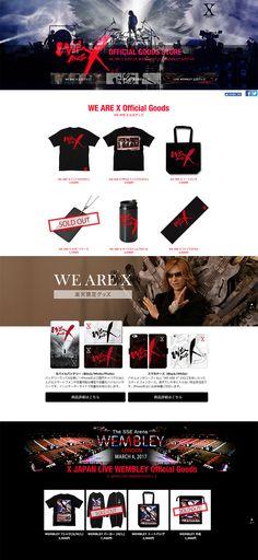 WE ARE X【ファッション関連】のLPデザイン。WEBデザイナーさん必見!ランディングページのデザイン参考に(かっこいい系)