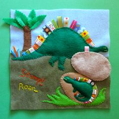 Imagine Our Life :: Dinosaur Quiet Book Page