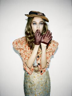 Granny Chic. Jalouse Magazine- Photography Ami Sioux