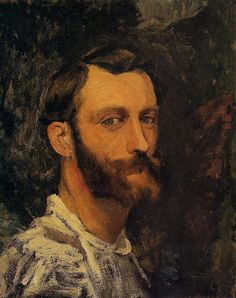 chadmsirois:  Self portrait, Frederic Bazille, c. 1865