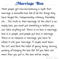 Marriage Box Poem