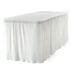White Table Cloth Made For Folding Tables