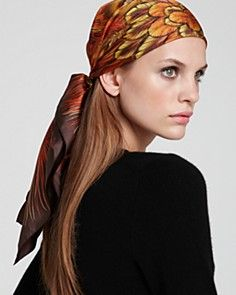 Fiery Head Scarf with a Simple Shirt —I'd prefer for the shapes in the scarf to be sharper.