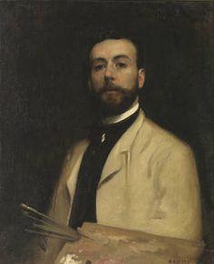 """Luis Franco Salinas, """"Autorretrato"""", h. 1885, óleo sobre lienzo, 79,2 x 64 cm"""
