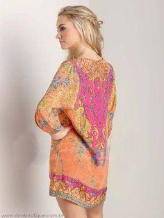 vestido estampado estilo túnica 1