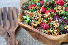 Nourishing Meals: Strawberry Salad with Candied Pumpkin Seeds