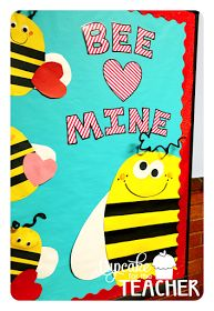 Bee Mine, Valentine! Valentine's Day bulletin board, craft, and printables