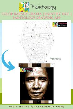 It's impossible to ignore the face of the previous US president Barack Obama. What better than to do a good likeness of him using Paint by nos. I was fairly impressed with how this paint by nos of Barack Obama turned out.This is ideal for a beginner and yet the face of the real president is well captured in this coloring exercise. We recommend that you use the Paintology drawing app to do this coloring. You can make changes and save your files as many times as you want. #paintbynumbers #drawing