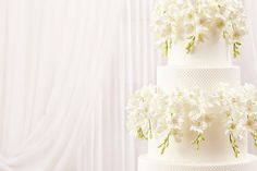 Cakes with personality that made the day - White Orchivd wedding cake | CHWV