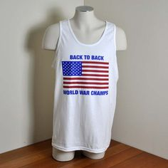 Back to Back World War Champs Party Tank Top