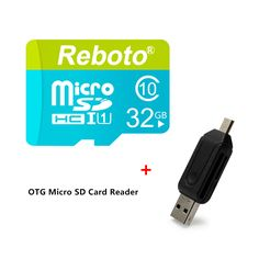 Reboto Micro SD Card 32GB 64GB Memory Card Class10 TF Card High Speed Transflash Card 4GB 8GB 16GB For Phone/Tablet/Camera