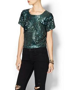 Karina Grimaldi Luca Beaded Top | Piperlime #buying lottery ticket today!
