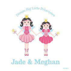 Dream Big Princesses Art Piece | Sammy Eve
