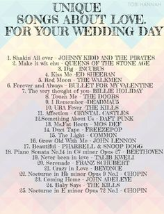 1000 Images About Wedding Songs On Pinterest