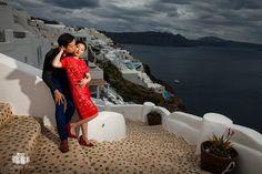 Wedding Photographer in Santorini / Oia for Chinese Couple - Aeginaphotographer