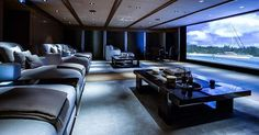 "807 Likes, 14 Comments - The Best of Yachting (@yachtinglifestyle365) on Instagram: ""No this is not a home theater it is the cinema room on-board the 287.99ft (87.78m) Feadship…"""