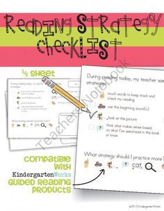 Reading Strategy Checklist product from KindergartenWorks on TeachersNotebook.com