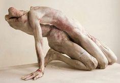 Sculpture hyper realiste macabre - 'Into One Another III' by Berlinde De Bruyckere Contemporary Sculpture, Contemporary Art, Lucas Cranach, Art Sculpture, Macabre, Dark Fantasy, Installation Art, Dark Art, Oeuvre D'art