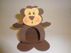 macaco porta bombom