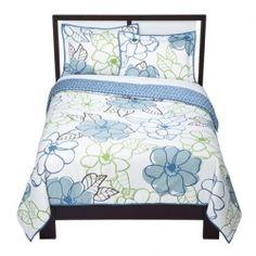 flowery bedspread