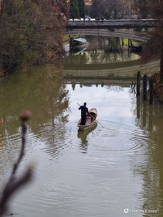 Capita spesso di vedere piccole imbarcazioni spingersi sull'acqua.