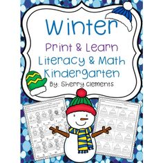 This Winter Print & Learn Literacy & Math Kindergarten pack contains 30 student work pages. These pages are great for morning work, homework, center time (literacy and math), or minilessons. http://drclementskindergarten.blogspot.com/