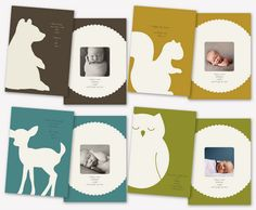 simple. sweet animal designs for cards or framed wall art