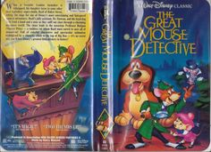 The Great Mouse Detective (VHS,) Black Diamond Classics Walt Disneys - Tested