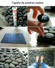 Tapete de piedras reales
