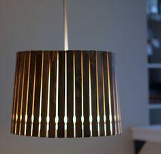 Kitchen light! Enjoying the simple things: Stir sticks - not just for paint anymore, DIY pendant light