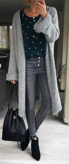 ideas for spring outfits casual women Trendy Fall Outfits, Cozy Winter Outfits, Simple Outfits, Casual Outfits, Winter Dresses, Sweater Outfits, Spring Outfits, Casual Wear, Best Of Fashion Week
