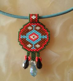 Handmade Ethnic necklace-bracelet Miyuki-delica beads were used Various colors are made You can contact me