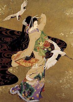 Dance of Cranes Morita Print