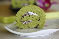 Matcha roll is a popular Japanese cake. It is a refreshing sponge cake rolled with cream and red bean filling. Easy matcha roll recipe.