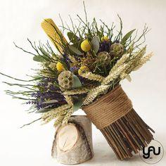 Lumanare botez ceara lavanda grau scabiosa craspedia - LB59 Grapevine Wreath, Christening, Flower Arrangements, Floral Design, Concept, Wreaths, Candles, Contemporary, Artist
