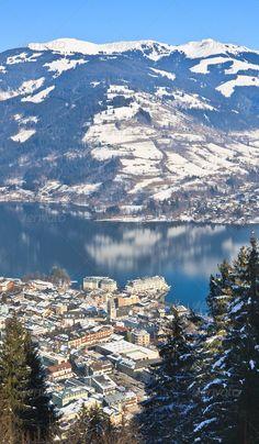 Ski resort Zell am See. Austria  #photodune