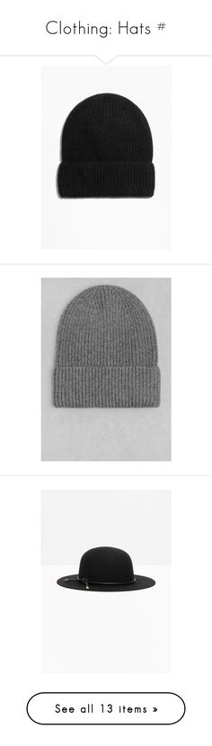 """""""Clothing: Hats #"""" by lavenderblush ❤ liked on Polyvore featuring accessories, hats, cashmere beanie, cashmere hat, beanie hats, cashmere beanie hats, beanie caps, beanie cap hat, & other stories and black"""