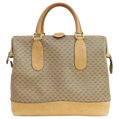 b0b020cce201 Gucci Monogram Gg Siganture 868531 Brown Coated Canvas Weekend travel Bag ·  Gucci MonogramLouis Vuitton ...
