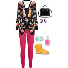 Untitled #69 by akb4572 on Polyvore featuring polyvore, fashion, style, UGG Australia, Givenchy, Kate Spade, Wanderlust + Co, Eos and Essie