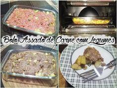 Como Fazer Bolo Assado de Carne com Legumes!! - YouTube