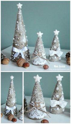 In this DIY tutorial, we will show you how to make Christmas decorations for your home. The video consists of 23 Christmas craft ideas. Diy Christmas Decorations Easy, Christmas Crafts To Make, Diy Christmas Ornaments, Felt Christmas, Rustic Christmas, Christmas Projects, Simple Christmas, Handmade Christmas, Holiday Crafts