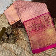 South Indian Wedding Saree, Indian Bridal Sarees, Wedding Silk Saree, Indian Silk Sarees, Soft Silk Sarees, Pattu Sarees Wedding, Wedding Saree Blouse Designs, Silk Saree Blouse Designs, Kanjivaram Sarees Silk
