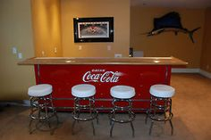 1950s coca cola sign cooler bar restored in Collectibles, Advertising, Soda, Coca-Cola, Other Coca-Cola Ads | eBay