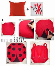 disfraz mariquita DIY conadeaileon carnaval ladybird low cost