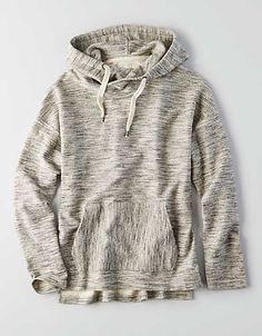 AEO Baja Hooded Sweater, Gray   American Eagle Outfitters
