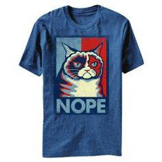 "Grumpy Cat ""Nope"" Tshirt blue Grumpy Cat Merchandise » Irony Design Syndicate #grumpycat #shirt #tshirt"
